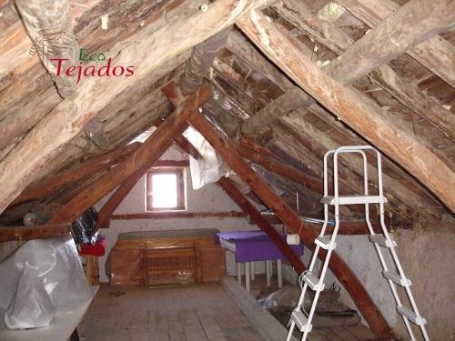 Proceso de reparaci n de un tejado en huesca for Restauracion tejados de madera