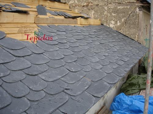 Proceso de reparaci n de un tejado de pizarra en el bierzo - Tejado de pizarra ...