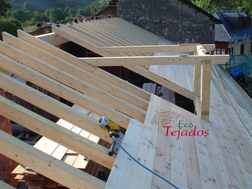 como hacer un tejado de madera construccin de la prgola