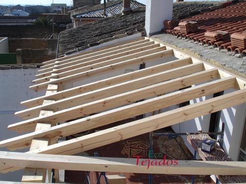 Proceso de construcci n de un porche en - Hacer un porche ...
