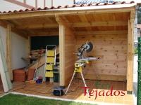 Proceso de construcci n de una caseta de - Como hacer una caseta de madera para el jardin ...