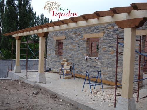 Porches de obra perfect more with porches de obra great for Tejado de madera o hormigon