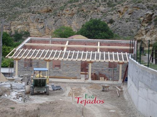 proceso de construcci n de un tejado y